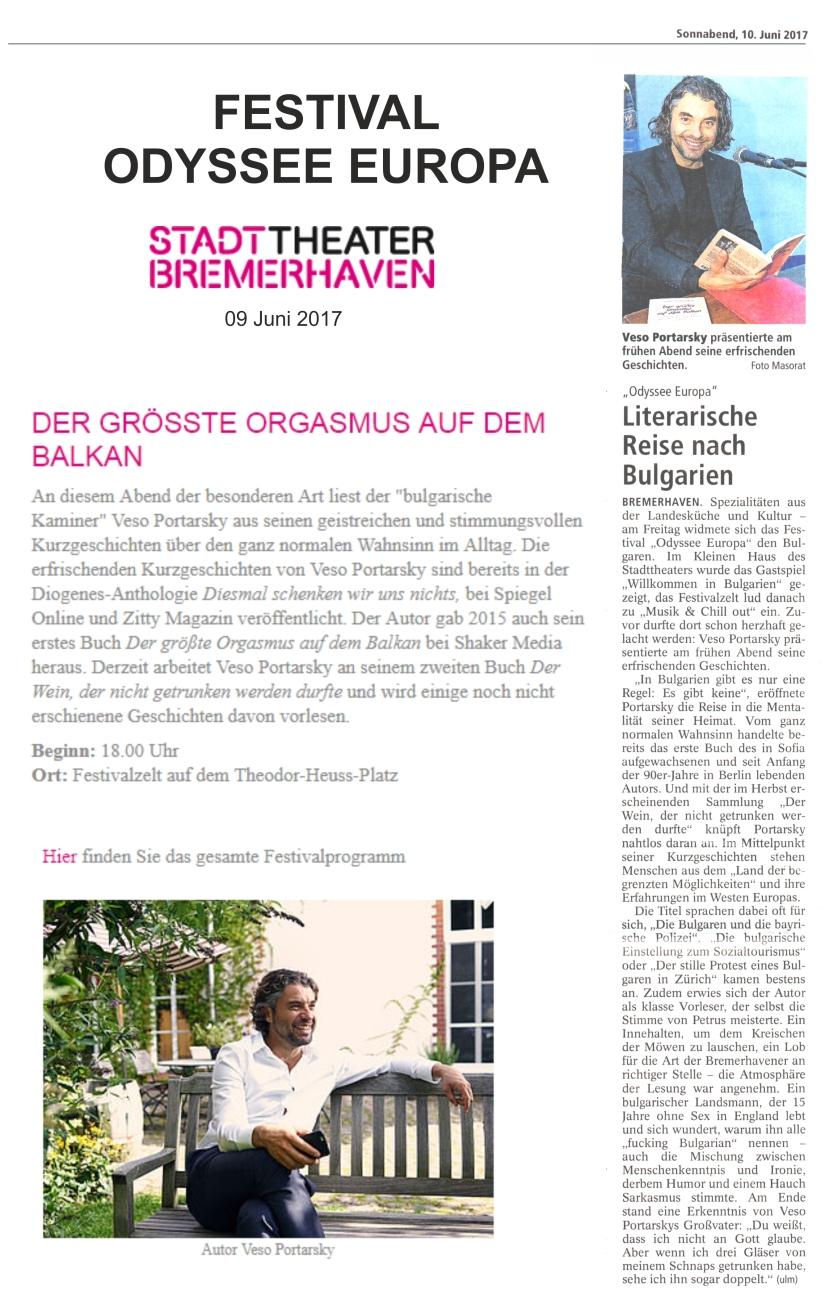 Nordsee Zeitung und Bremerhaven Stadttheater